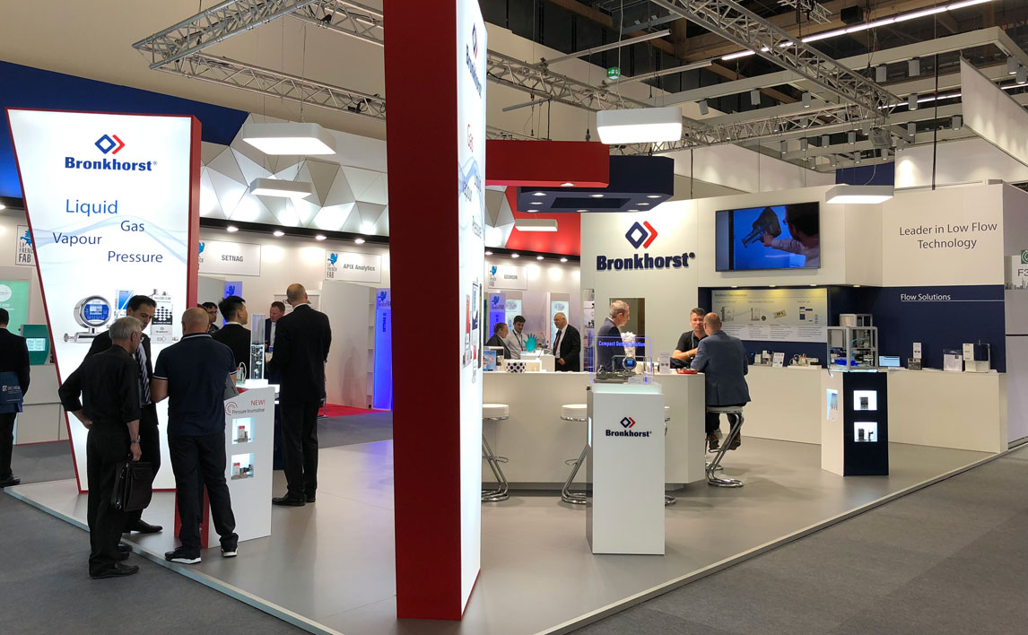 Bronkhorst booth at ACHEMA 2018