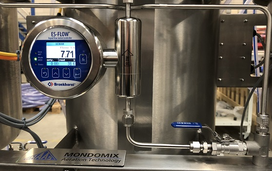 Dosing additives into candy production with ultrasonic flow meter