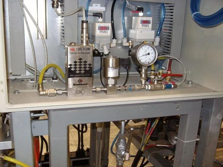 Experimental setup with Bronkhorst mini CORI-FLOW M14 and C5i valve