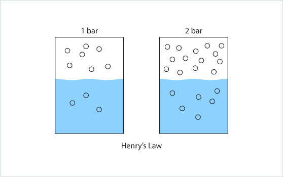 Henry's Law, dissolved gas