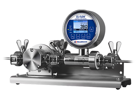Dosing solution with ultrasonic volume flow meter and pump