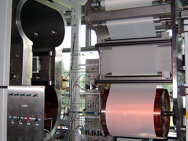 Web coater at Empa, St. Gallen
