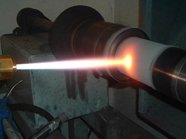 Sample of plasma spraying