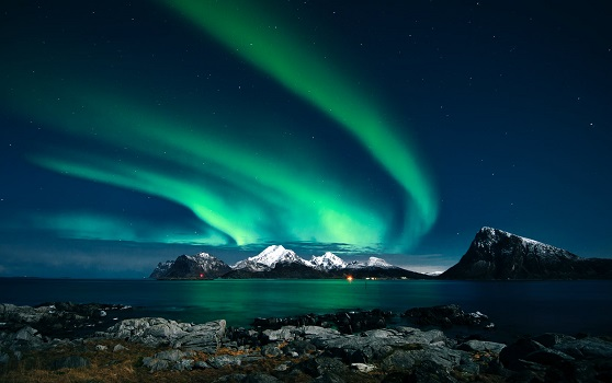 Natural occurring plasma: Northern light